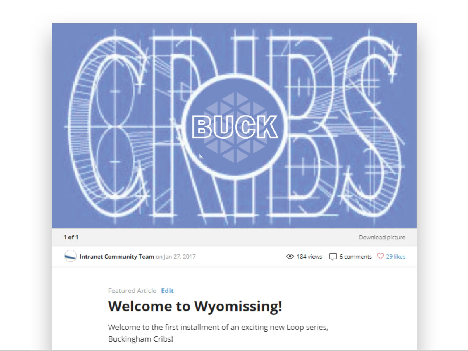 BuckCribs on Buckingham's Jostle intranet