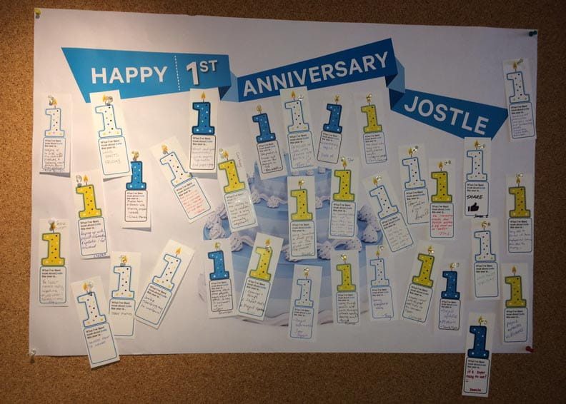 Jostle intranet's first anniversary event
