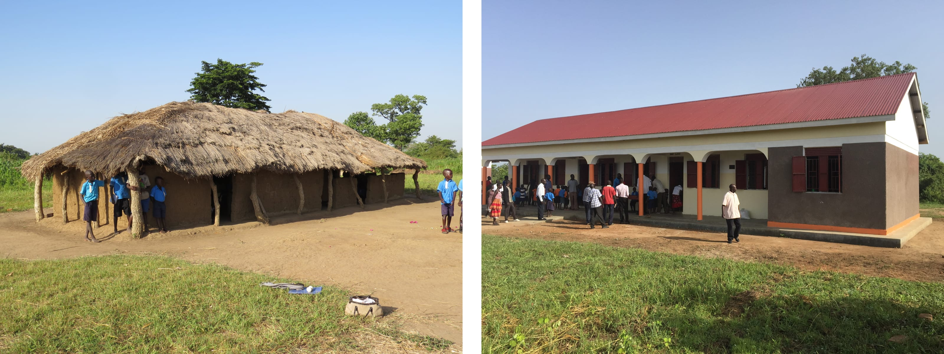 Before and after at Okweta Primary School, Uganda