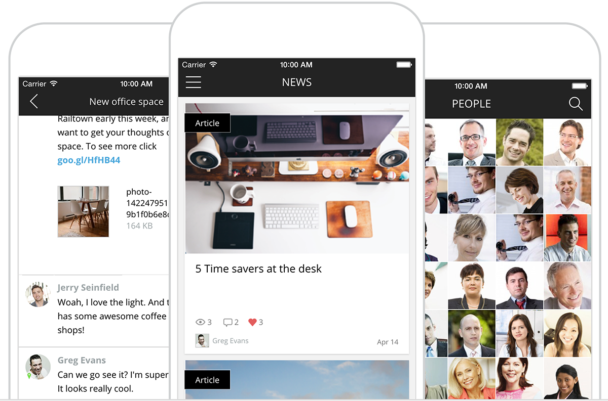Jostle Android / iOS Intranet App